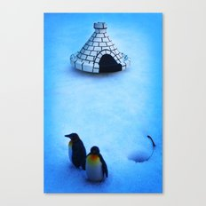 Frozen land Canvas Print