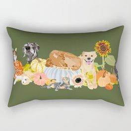 Autumn Pets Rectangular Pillow