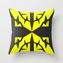 Gold X Throw Pillow
