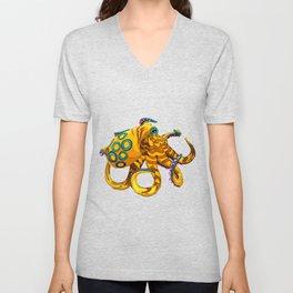 Blue-Ringed Octopus Unisex V-Neck