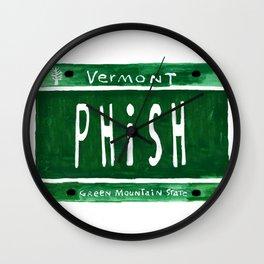 Phish license plate Wall Clock