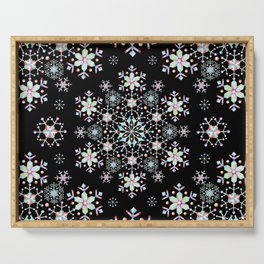 Snowflake Lace Serving Tray