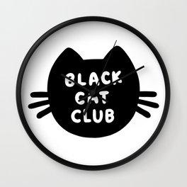 Black Cat Club Wall Clock