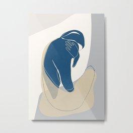 Abstract Woman 05 Metal Print