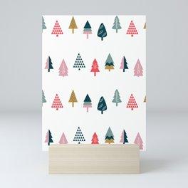 Christmas Trees (Arctic) Mini Art Print