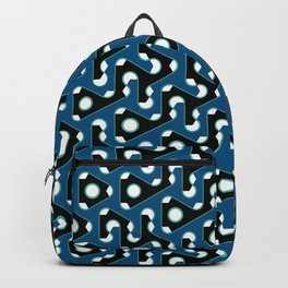 Squiggle Trails Black and Blue Backpack