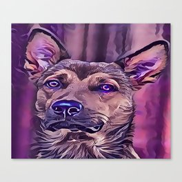 The Kunming Wolf Dog Canvas Print
