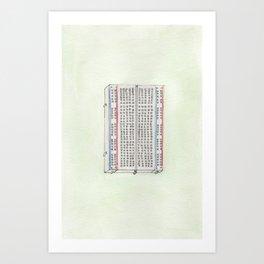 Solderless Breadboard Watercolor Art Print