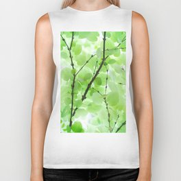 Under the Trees in a Summer Rainstorm  #decor #society6 #buyart Biker Tank