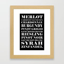 Wine Celebration - black Framed Art Print