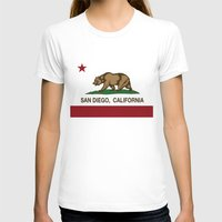 san diego T-shirts featuring California Flag San Diego by NorCal
