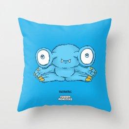 Bluemungus Throw Pillow
