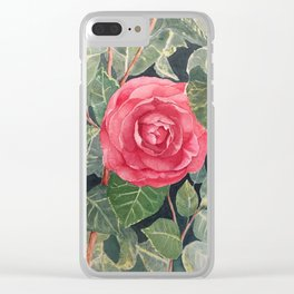 The Red Flower Clear iPhone Case