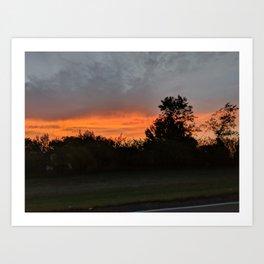 North Dakota Sunrise Art Print