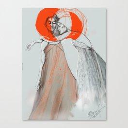 Simeon Farrar Fashion  Illustration by Dana Bocai Canvas Print