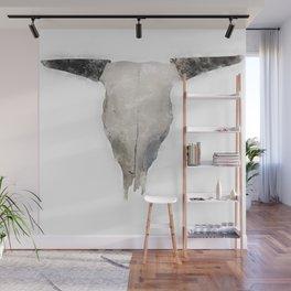 Bull Skull Waterpainting Wall Mural