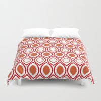 ikat Duvet Covers featuring Ikat by Jay Hooker Designs