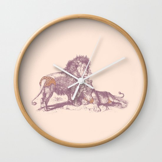 Rrrrauwch! Wall Clock