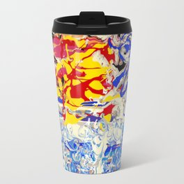Abstract painting  - Sunset over The Sea Travel Mug