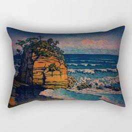 Bathing in Sunset Rectangular Pillow