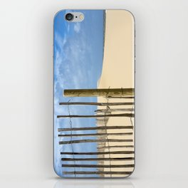 Fence in the sand iPhone Skin