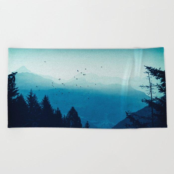 Blue Valmalenco - Alps at sunrise Beach Towel