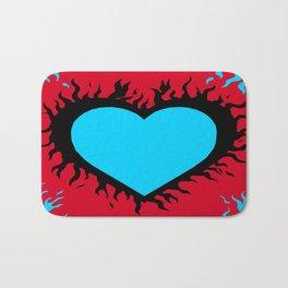 Flaming Heart Bath Mat