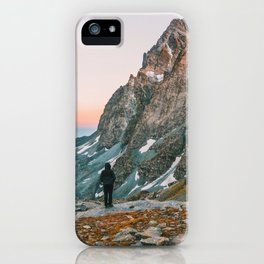 sunset on the monviso iPhone Case