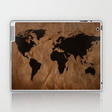 Old Wrinkled World Map Laptop & iPad Skin
