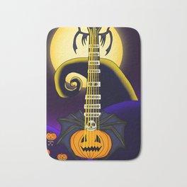 Keyblade Guitar #7 - Pumpkinhead (Jack Skellington's World) Bath Mat