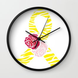 Endometriosis Awareness Ribbon Wall Clock