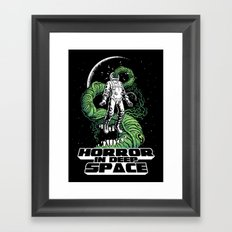 Horror In Deep Space Framed Art Print