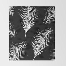 Palm Leaves Print Throw Blanket