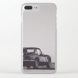 Supercar details, british triumph spitfire, black & white, high quality fine art print, classic car Clear iPhone Case