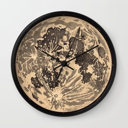 Map of the Moon Wall Clock