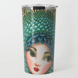 Peacock girl Travel Mug