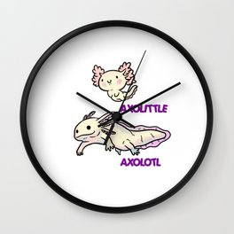 Cute Reptile Axolotl Animal Wall Clock
