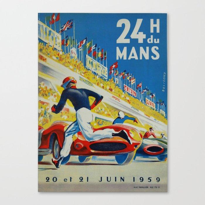 24hs Le Mans, 1959, vintage poster Leinwanddruck