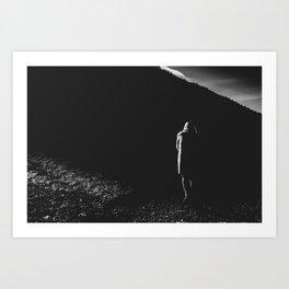 Woman In The Dark Art Print