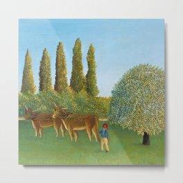 "Henri Rousseau ""Meadowland"" Metal Print"