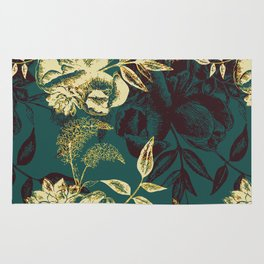 Illustrations of Florals Rug