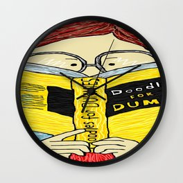 Doodle For Dummies Wall Clock