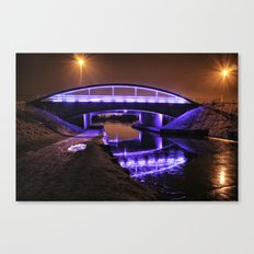 Blue Bridge at night Canvas Print