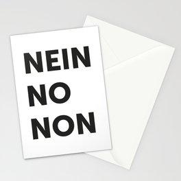 Nein, no, non Stationery Cards