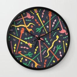 MCM Swizzle Wall Clock