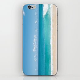 Turquoise wave iPhone Skin