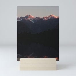 Mount Cook Sunset Reflection Mini Art Print