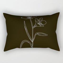 Amancay Wildflower in black Rectangular Pillow