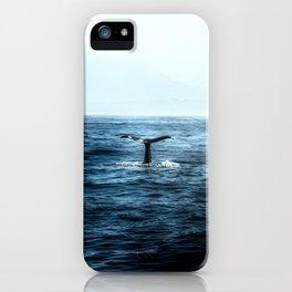 Ocean Teal Whale iPhone Case