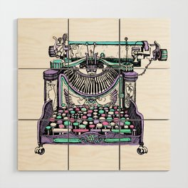 Magical Typewriter Wood Wall Art